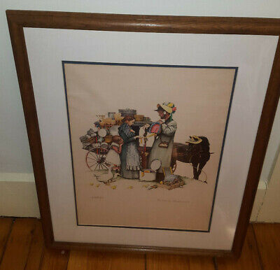 $ CDN765.53 • Buy Norman Rockwell Country Pedlar Lithograph Signed Limited Ed. 289/300 W/ COA