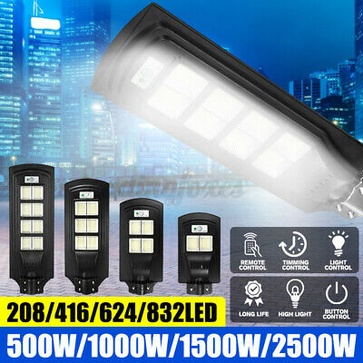 500W-2500W Street Light Wall Solar Powered Road Lamp Motion Path W/ Remote UK • 36.99£