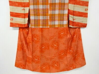 $ CDN74.60 • Buy 5065817: Japanese Kimono / Antique Juban / Do-nuki / Peony & Pine Needles