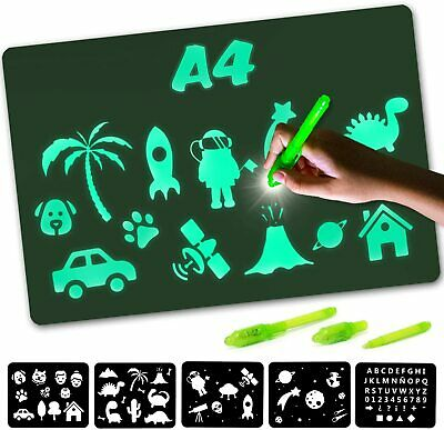 Nene Toys - Magic Drawing Boards With Light For Kids - Fluorescent A4  • 13.69£
