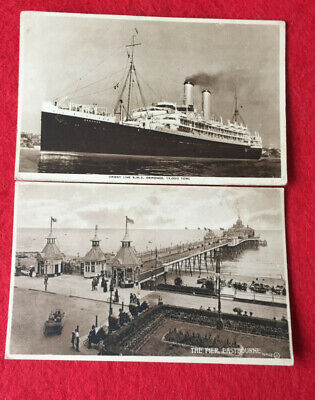 Details About Postcard The Pier Eastbourne Valentines Series  & One  R.M.S • 4.50£