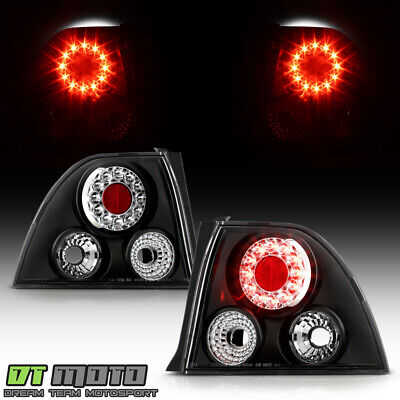 $98.99 • Buy For Black 1994-1995 Honda Accord 2/4Dr LED Tail Lights Lamps Left+Right