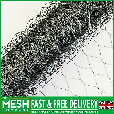 Chicken Wire Netting Mesh Rabbit Aviary Fence Pet 5m & 10m Roll Top Quality • 12.99£