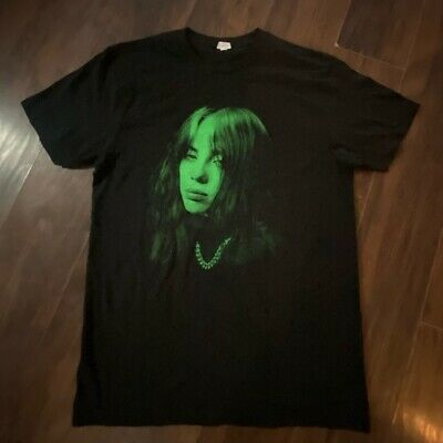 $ CDN24.98 • Buy Billie Eilish Inspired Green Face Black T-Shirt / Bad Guy Lana All I Ever Wanted