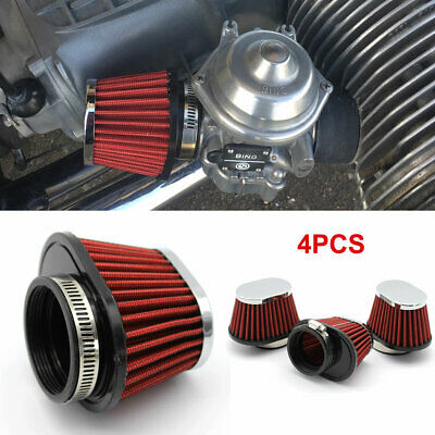 £21.96 • Buy 4X Set 50mm Inlets Pod Cone Motorbike Motorcycle Air Filter Cleaner Re-usable