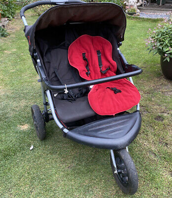 Babyweavers Twin 3 Wheeler Pushchair Side By Side • 10£