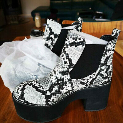 Mock Snake Skin Shoes Size 6 - Platform  • 10£