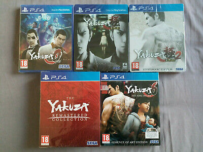 Yakuza 0 - 6 PS4 Collection - Steelbooks/Limited Editions - NEW & SEALED • 249.99£