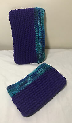 £2.92 • Buy Cell Phone Sock~2 Crocheted Cell Phone Pouches For Large And Small Phones