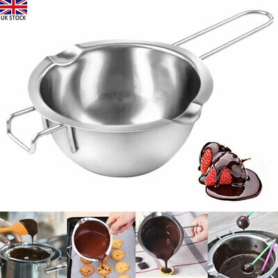 Stainless Steel Wax Melting Pot Double Boiler For DIY Wedding Scented Candle UK • 8.58£