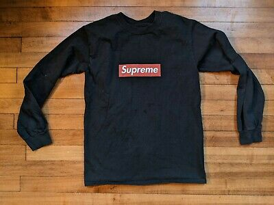 $ CDN31.88 • Buy T-Shirt Supreme 🔥 Small Red Box Logo Spellout Tee Long Sleeve Tagless Black