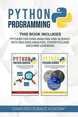 AU34.44 • Buy Python Programming By Computer Science Academy (English) Paperback Book Free Shi