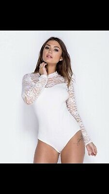 £4.99 • Buy Lace Bodysuit BRAND NEW WITH TAGS WHITE OR BLACK