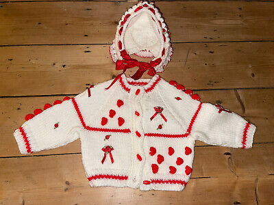 Romany Baby Girl Knitted Jumper And Hat Spanish Traditional Hand Made 1 Year • 12£