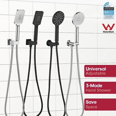 AU56.22 • Buy ABS Hand Held Shower Set With 3-mode Shower Head + Brass Wall Elbow+ Shower Hose