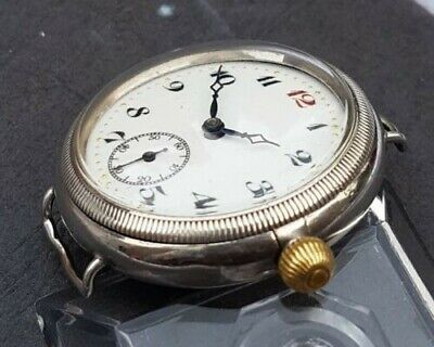 Trench Watch 1920s Borgel Case Silver Fully Working • 354.91£