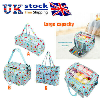 Embroidery Storage Bag Knitting Crochet Hooks Organizer Sewing Thread Yarn Case • 22.89£