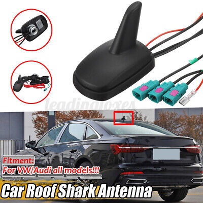 For Audi VW Shark Fin Car Aerial DAB AM FM GPS Roof Mount Antenna Aerial UK • 35.35£