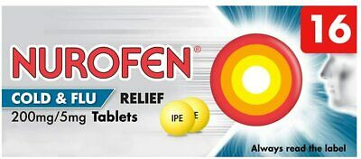 Nurafen Cold & Flu Relief Tablets 200mg/5mg - 16 - MAX 2 PER TRANSACTION • 6.65£