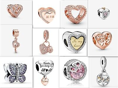 £8.99 • Buy S925 Rose Gold / Silver Charms - Hallmarked S925 (Compat With Pandora Bracelets)