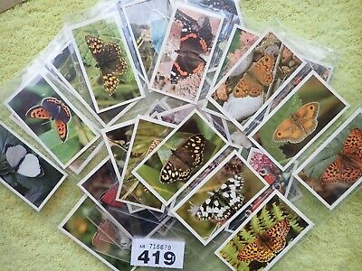 PLAYERS GRANDEE BRITISH BUTTERFLIES Full Set Of 32 Cigar Cards • 4.50£
