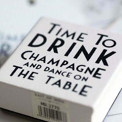 East Of India TIME TO DRINK CHAMPAGNE Rubber Stamp - Crafting - Wedding  • 2.99£