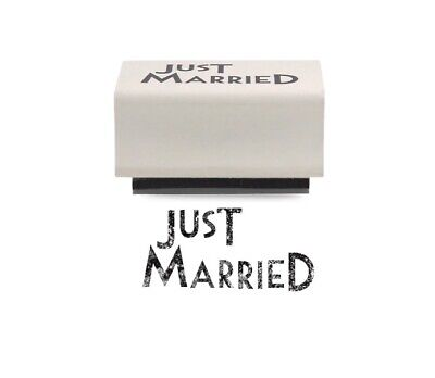 East Of India JUST MARRIED Rubber Stamp - Crafting - Wedding • 1.75£