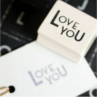 East Of India LOVE YOU Rubber Stamp - Crafting - Wedding  • 1.90£