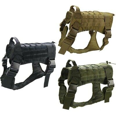 AU23.99 • Buy Tactical-Police K9 Training Dog Harness Military Adjustable Vest For Large Dogs