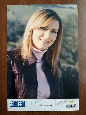 TRICIA PENROSE *Gina Ward* HEARTBEAT HAND SIGNED CAST CARD AUTOGRAPH FREE POST • 14.99£