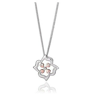 NEW Official Welsh Clogau Silver & Rose Gold Tree Of Life Flower Pendant £80 OFF • 59£