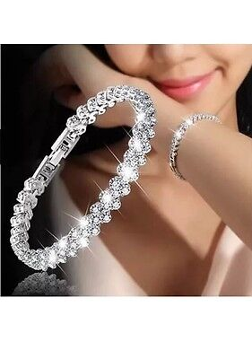 Diamante Crystal Stone Silver Gold Hand Panja Hand Chain Braclet Ring Hand Piece • 6.99£