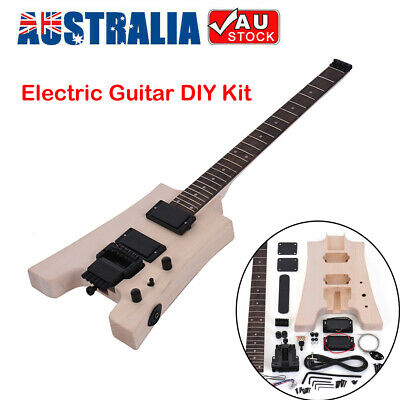 AU142.50 • Buy Unfinished DIY Electric Guitar Kit Basswood Body Rosewood Fingerboard Maple Neck