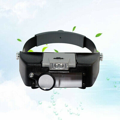 Wearable Magnifying Glasses Head Visor Style Magnifier With LED Work Light • 12.40£
