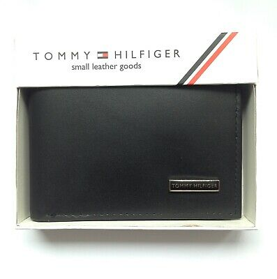 £17.99 • Buy Mens Leather Wallet 'Tommy Hilfiger' Black,bifold,coin Pouch, Card Slot