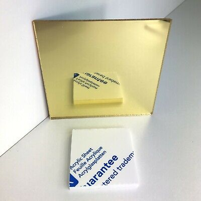 Gold Mirror Acrylic Colour Sheet Panel Perspex Plastic 3mm A3 A2 A1 • 2.99£