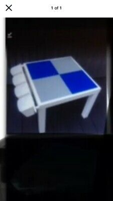 £35 • Buy Children's Building Bricks Table Compatible With Lego Duplo Blue Grey Bases New!