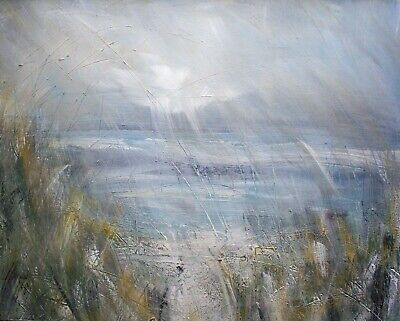 Sea Grasses, Coastal / Landscape Art. Original Acrylic Painting 0n Canvas Board. • 75£