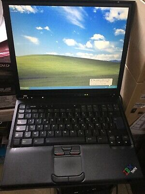 IBM Thinkpad T41 Laptop With Parallel Port Windows XP  & Microsoft Office2007 • 207.99£