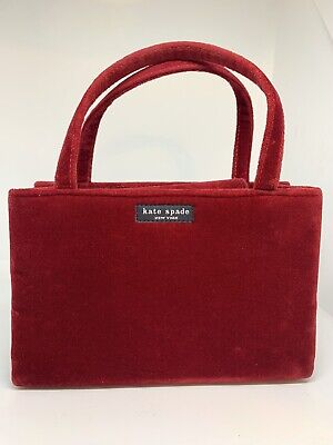 $ CDN78.80 • Buy KATE SPADE Red Velvet Box Tote Bag 1990s