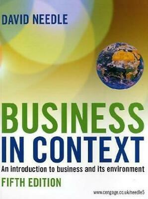 Business In Context, Very Good Condition Book, NEEDLE, ISBN 9781844806133 • 6.06£
