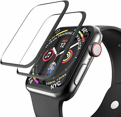 $ CDN1.87 • Buy 2-Pack Full Cover 3D Screen Protector For Apple Watch Series 1 2 3 4 5 6 IWatch