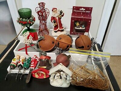 $ CDN18.19 • Buy Lot Of Vintage Christmas Ornaments Decorations, Collectibles, Bells Etc