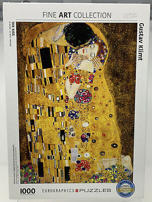 "$ CDN31.78 • Buy EuroGraphics Fine Art Collection ""The Kiss"" By Gustav Klimt 1000 Piece Puzzle"