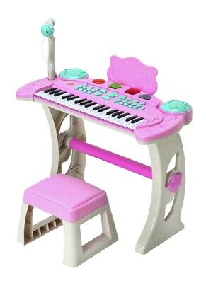 £59.99 • Buy Pink Shade Chad Valley Keyboard Stand Stool Kids Creative Music Sound Play Set😍