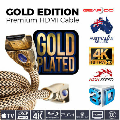 AU10.49 • Buy Premium HDMI Cable 2.0 3D FULL HD 4K 1080p High Speed Ethernet EDI Gold Edition