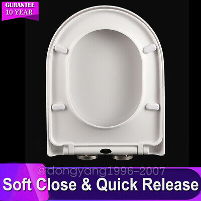 £20.88 • Buy Luxury D Shaped Toilet Seat Heavy Duty White Soft Close Top Quick Release Hinges