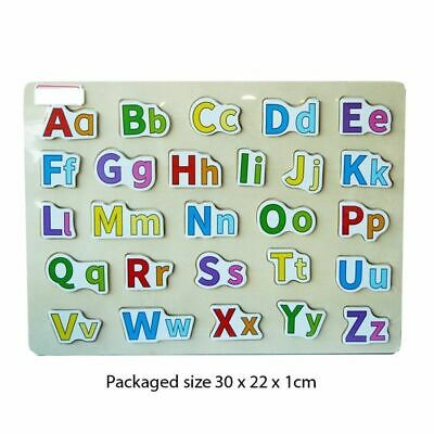 £7.95 • Buy Wooden Puzzle Baby Kids Toddler Jigsaw Alphabet Letters Education Learning Toys