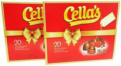 $32.84 • Buy Cella's Milk Chocolate Covered Cherries W/Clear Liquid Center ~ Lot 2 Gift Boxes