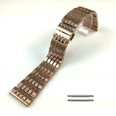 Rose Gold Steel Metal Bracelet Replacement Watch Band Strap Butterfly Clasp • 12.26£